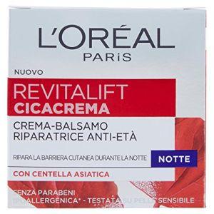L'Oréal Revitalift Cicacrema - Crema Antirughe Idratante Notte con Centella Asiatica - 50 ml