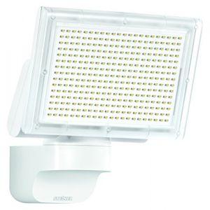 Steinel 029746 XLED home 3 SLProjecteur LED sans détection, Spot LED d'une puissance de 20 Watt et luminosité de 1426 lm, Éclairage extérieur de sécurité avec 4000K Blanc chaud, IP44Blanc -