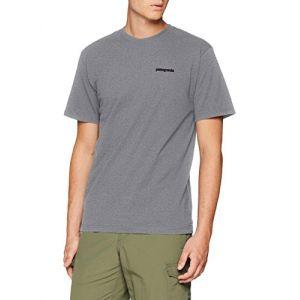 Patagonia T shirt p 6 logo responsibili tee gravel gris l