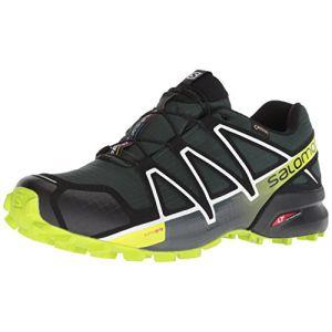 Salomon Speedcross 4 GTX, Chaussures de Trail Homme, Vert (Darkest Spruce/Black/Acid Lime Darkest Spruce/Black/Acid Lime), 41 1/3 EU