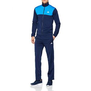 Adidas Back 2 Basics Survêtement Homme, Collegiate Navy, Bright Blue, Blanc, FR : M (Taille Fabricant : 6)