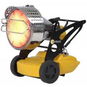 Sovelor Chauffage radiant mobile Fioul 43kW sans cheminée Flash 1