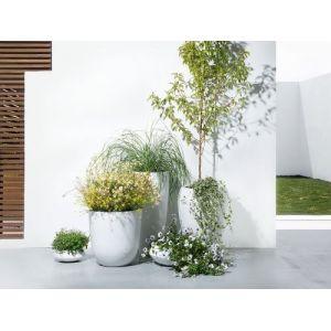 Beliani Cache-pot - Accessoir de jardin - 35x35x19 cm - Blanc - Iseo