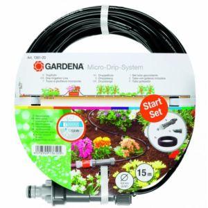 Gardena 1361-20 - Tuyau Micro Drip à goutteurs incorporés de surface Ø 4.6 mm 15 m