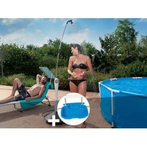 G.F. Douche solaire Sunny Style Grise + Pédiluve