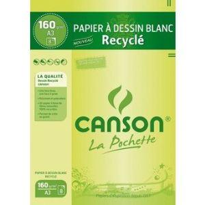 Canson 8 Feuilles de papier dessin 160 g (A3)