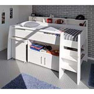 Lit combiné Melody avec bureau et rangement (90 x 200 cm)