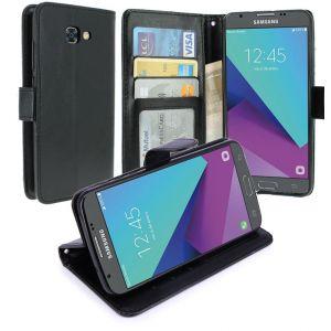 Housse Samsung Galaxy J3 2017, Housse Coque Etui De Luxe Portefeuille Porte Carte Et Billet Pour Samsung Galaxy J3 2017 (Housse Luxe Noir)