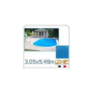 Linxor Bâche à bulles ovale 180 microns pour piscine 3,05 x 5,49 m
