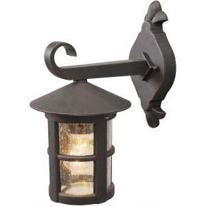MW Applique extérieure lanterne suspendue métal noir LIGHT