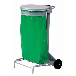 Otto Office Support de sac poubelle à pédale roulant (110 L)