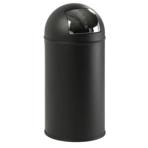 Basic Poubelle Pushcan en métal (40 L)