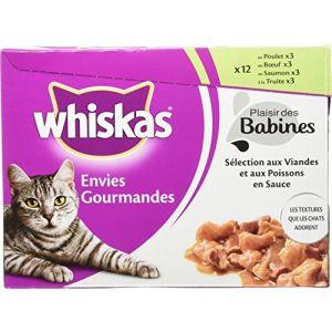 Whiskas Plaisir des babines 12 x 85g (Lot de 4)