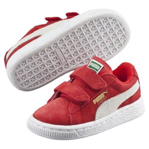 Puma Sneakers Basses mixte enfant, Rouge (High Risk Red/White), 27 EU