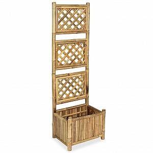 VidaXL Jardinière avec treillis Bambou 40 cm