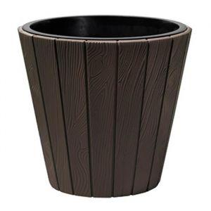 PROSPERPLAST Pot rond Woode Ø 488 mm Marron brun