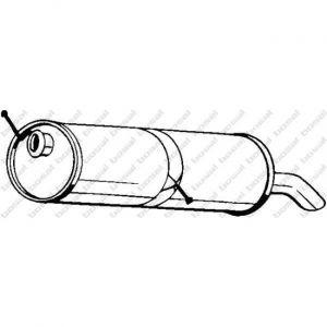 Bosal Silencieux arrière 190-605