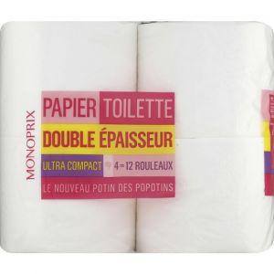 Monoprix Papier toilette double épaisseur ultra compact