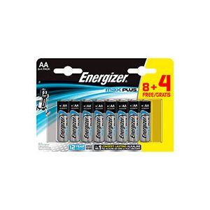Energizer Pile alcaline AA - 8 piles LR6 Max plus + 4 offertes