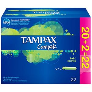 Tampax Compak super 22 tampons