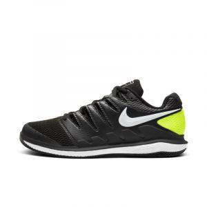 Nike Baskets tenis Court Air Zoom Vapor X Hard Court - Black / White / Volt - Taille EU 41