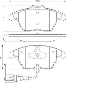 Bosch BP938 - 4 Plaquettes de frein Avant