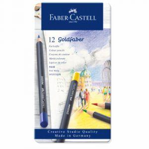 Faber-Castell Boîte de 12 crayons de couleur Goldfaber