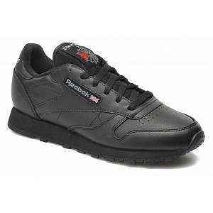 Reebok Classic Leather, Baskets Basses Femme, Noir (Black), 37 EU