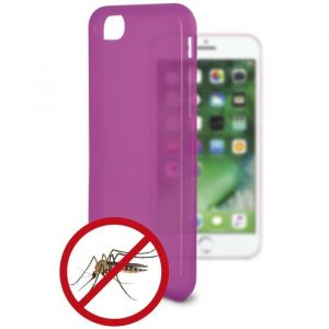 KSIX Coque de protection flexible anti-moustique pour Iphone 7 Rose - Coque de protection amusante illuminant - Antidérapant: améliore la prise de votre appareil - Protection contre les rayures et anti-poussière - Accès aux connecteurs et caméras de votre