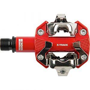 Look 49518/357 : - 49518/357 : Pédales de vélo X-TRACK COULEUR ROUGE