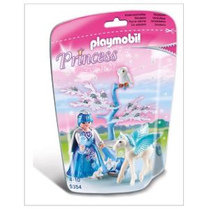 Playmobil 5354 Princess - Reine des Neiges avec bébé Pegasus Flocon de neige