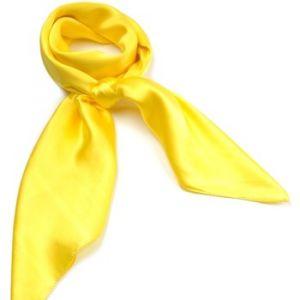 Allée du foulard Carré de soie Premium Uni Jaune