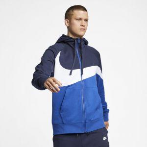 Nike Sweat à capuche en molleton entièrement zippé Sportswear pour Homme - Bleu - Couleur Bleu - Taille XS