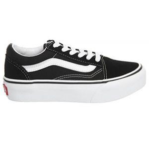 Vans Chaussures Junior Old Skool Platform (4-12 Ans) (black) Enfant Noir, Taille 31