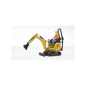Bruder Toys 62002 - Mini pelle avec conducteur JCB 8010