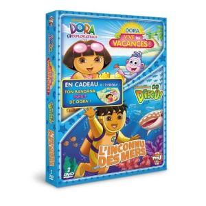 Coffret Dora l'exploratrice : Vive les vacances ! + Go Diego ! : L'inconnu des mers