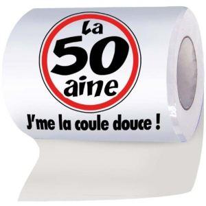 """Papier WC humoristique """"La 50aine - J'me la coule douce !"""""""