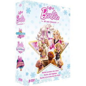 Coffret Barbie et ses soeurs : à la recherche des chiots + grande aventure des chiots + club hippique