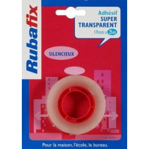 Rubafix 392400 - Ruban adhésif transparent, 19mm x 25m, sans dévidoir