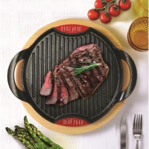 Bialetti Grill Ghisa Grill induc + support bois 28x28