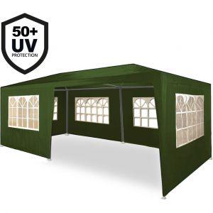 Deuba Tonnelle Rimini vert Tente de réception 3x6m Chapiteau Tente de jardin Pavillon