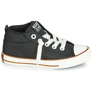 Converse Chaussures enfant CHUCK TAYLOR ALL STAR STREET MID POLYESTER HI Noir - Taille 27,28,30,31,32,33,34,35