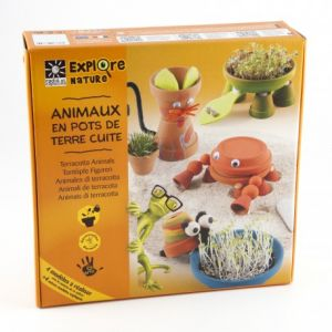 Radis et capucine Ensemble de pots de terre cuite pour fabriquer des animaux