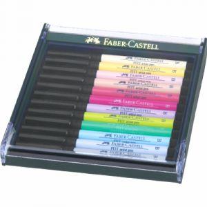 Faber-Castell Lot de 12feutres pinceaux Tons pastel