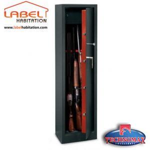 TECHNOMAX Armoire a fusils a cle TCH/10 - Rangement 10 fusils