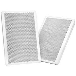 Pronomic Fls-540 Wh paire de panneaux plats haut-parleurs muraux boîtier blanc 160 Watt