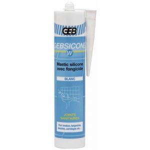 Geb 893150 - W mastic 100% silicone d'étanchéité cartouche de 310 ml