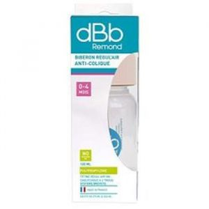 dBb Remond Biberon polypropylène Regul'air Clear 120 ml tétine non caoutchouc
