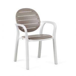 Nardi Fauteuil Jardin & Terrasse Design Palma - Blanc & Tortora - Extérieur