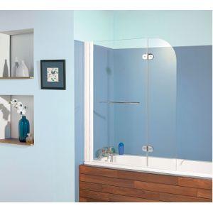 Kinedo Aqualift2 - Pare-baignoire 2 panneaux pivotant et relevable 110 x 140 cm